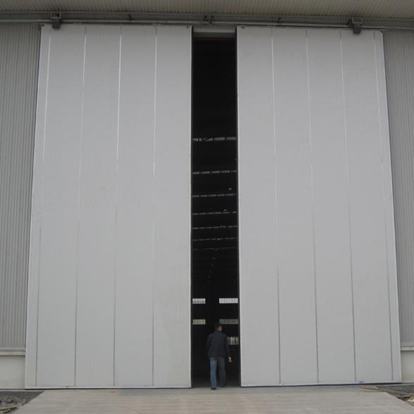 50mm Door Panel PPGI Material Industrial Sliding Door