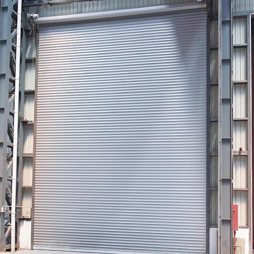 Steel Double Layer Slat Windproof Roller Door