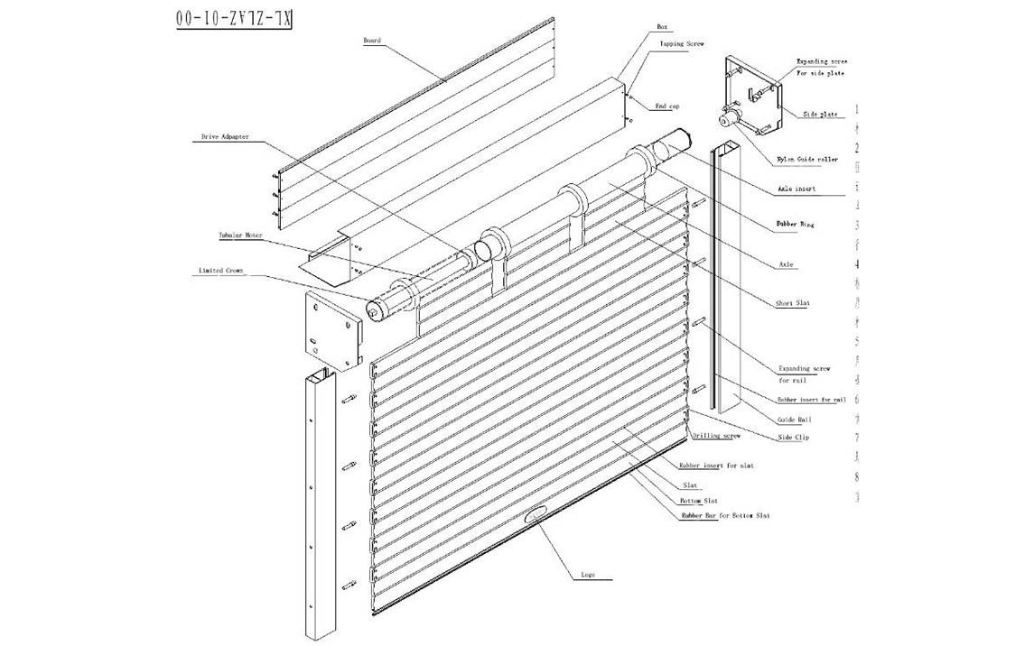 Zhongtai-Aluminum Garage Doors Aluminum Rolling Shutter Garage Door-4