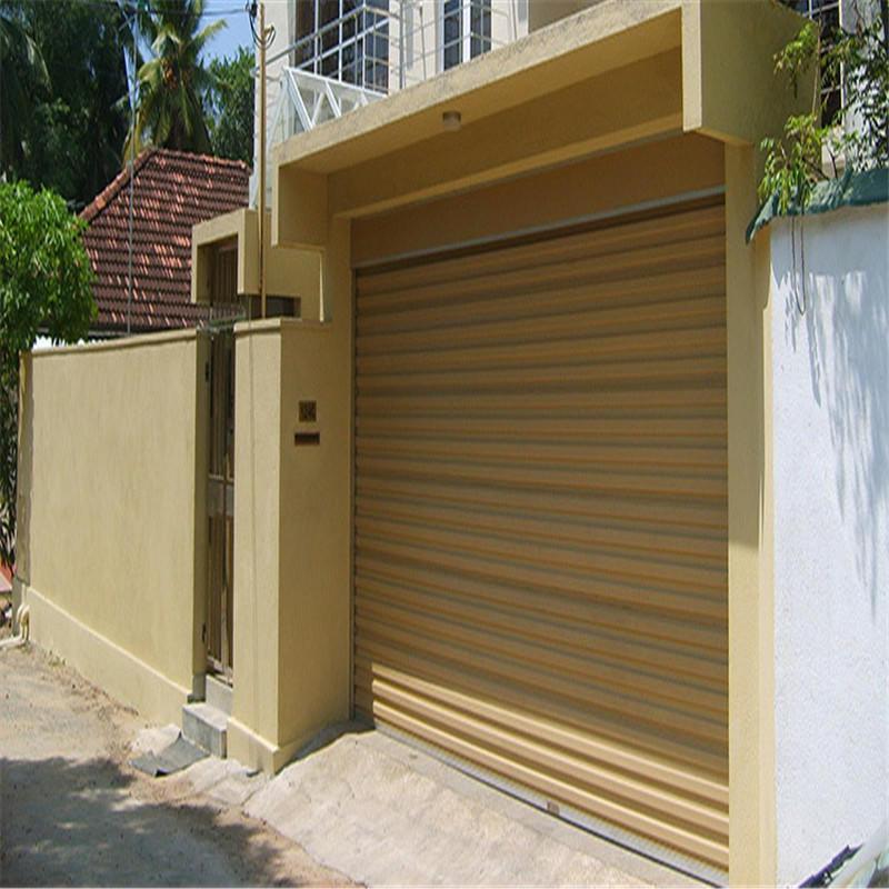 White Windproof Shutter Door
