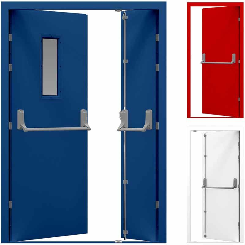 Double Emergency Exit Steel Fire Rated Door