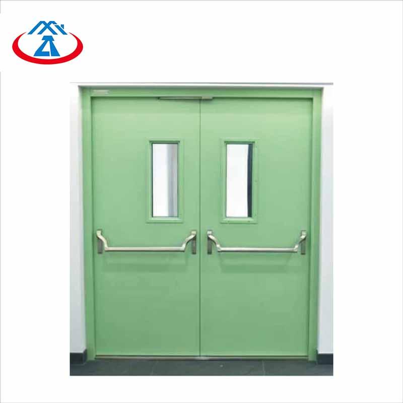 Zhongtai-High-quality Garage Fire Door | Double Emergency Exit Steel Fire Rated Door-2