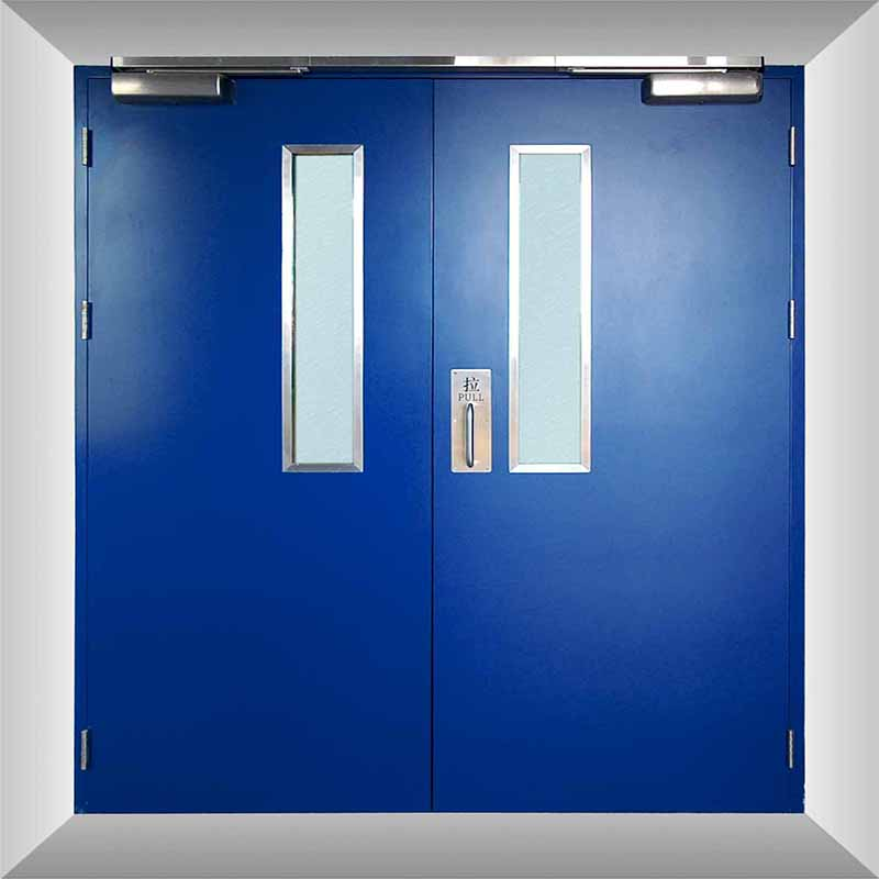 Zhongtai-High-quality Garage Fire Door | Double Emergency Exit Steel Fire Rated Door-4