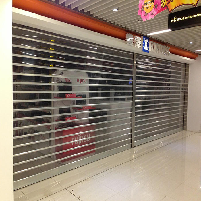 2.5mm Polycarbonate Slat Electric Plastic Rolling Shutter Door