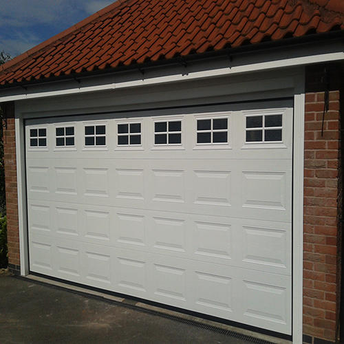 Vertical Sectional 50mm Galvanized steel  Garage Door