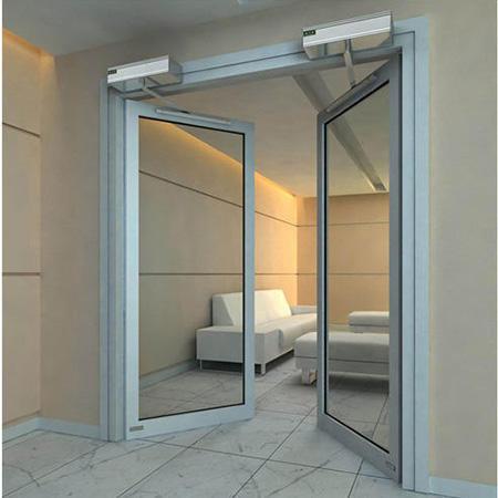 Thermally Broken Tempered Glass Aluminum Swing Door