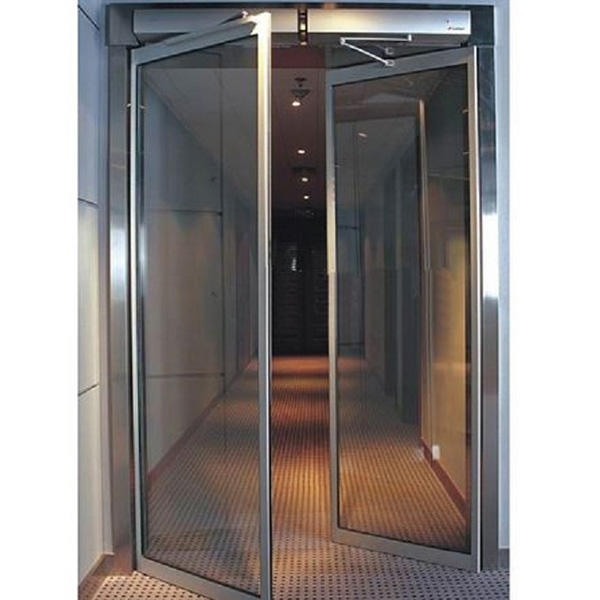 Double Layer Slat Sound Insulation Aluminum Swing Door