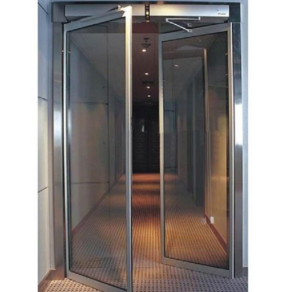 Double Layer Slat Sound Insulation Aluminum Swing Door
