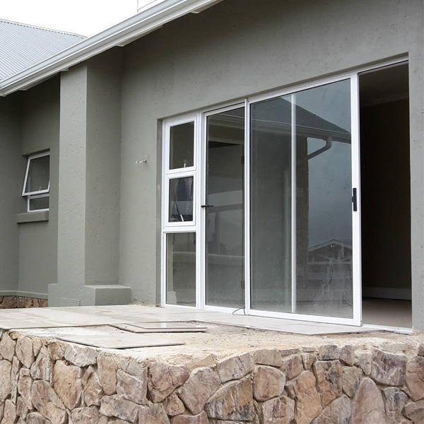 Easy to install Tempered Glass Aluminum Sliding Door