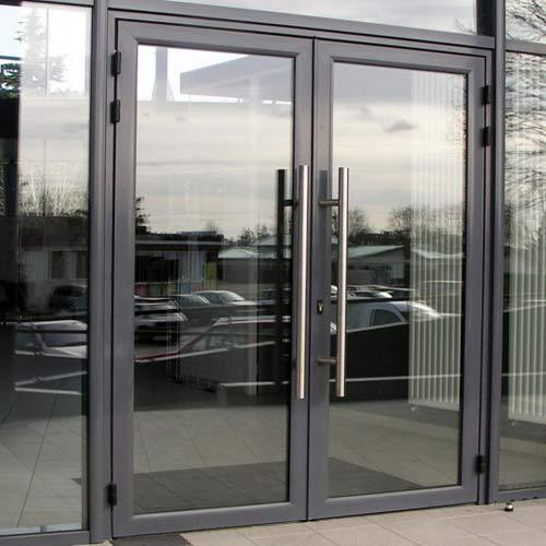 Zhongtai-Best Aluminium Patio Doors Tempered Glass Swing Door Manufacture-1