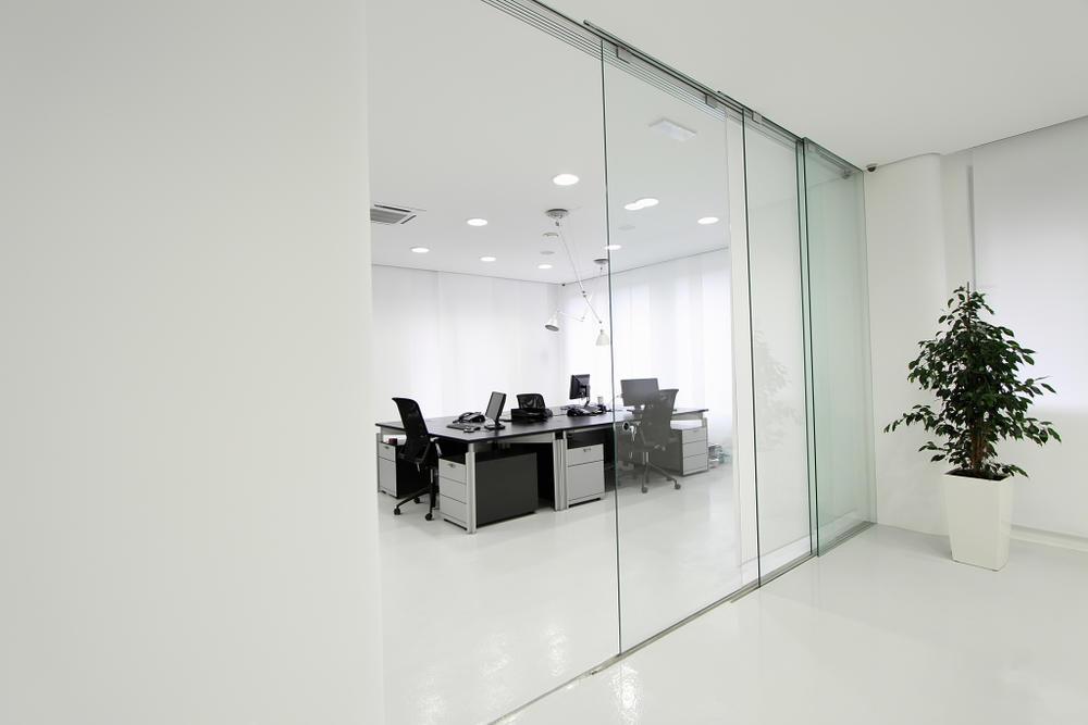 Laminated sliding glass door frameless glass sliding door