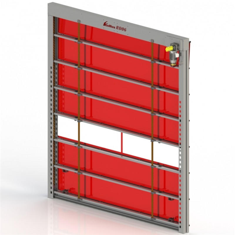 Red Fast PVC Shutter Door for freezing or food