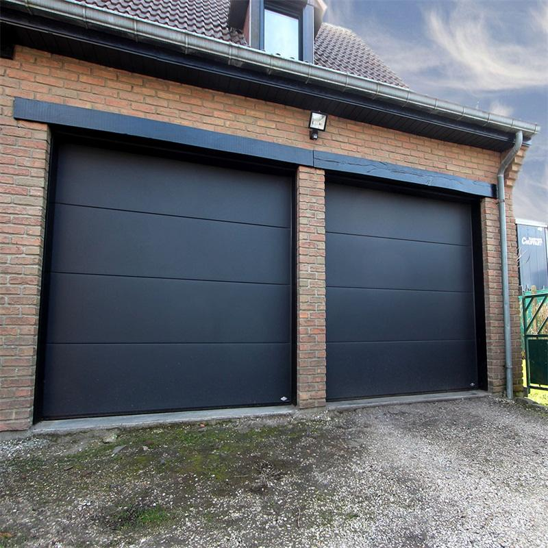 Electric Double Slat with PU Overhead Sectional Garage Door