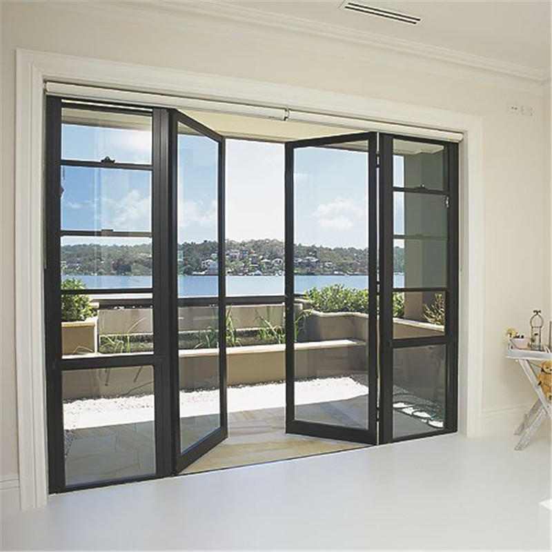 Customized aluminum frame with double glass sliding doors