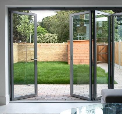 Top Quality Aluminum Frame Double Tempered Glass BI Folding Doors for Hot Sales