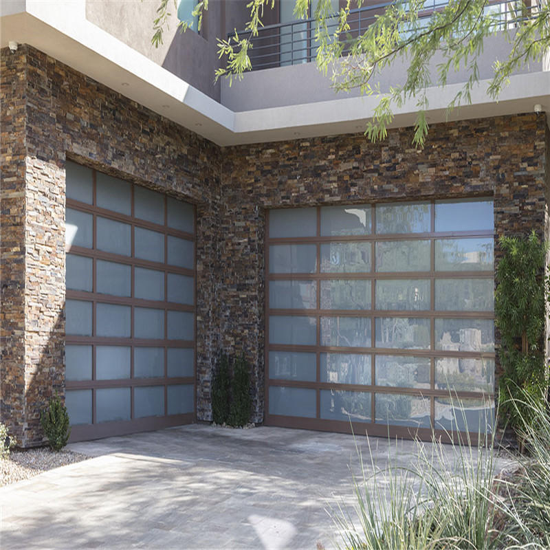 Aluminum Frame Automatic Glass/PC Sectional Garage Doors for House