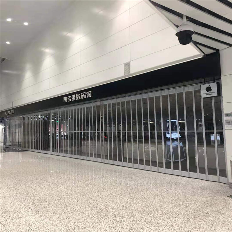 Good quality transparent aluminum frame with polycarbonate folding door