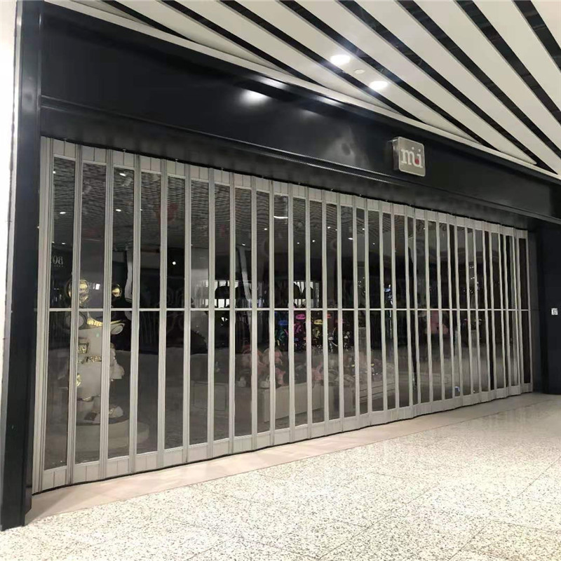 product-Zhongtai-commercial door sliding aluminum PC folding door for sale-img