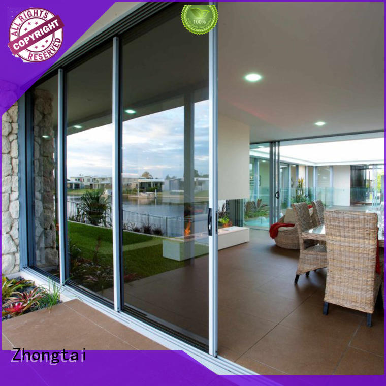 Zhongtai double aluminium sliding doors suppliers for villa