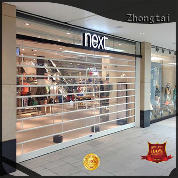 Zhongtai High-quality shop shutter prices factory for supermarket