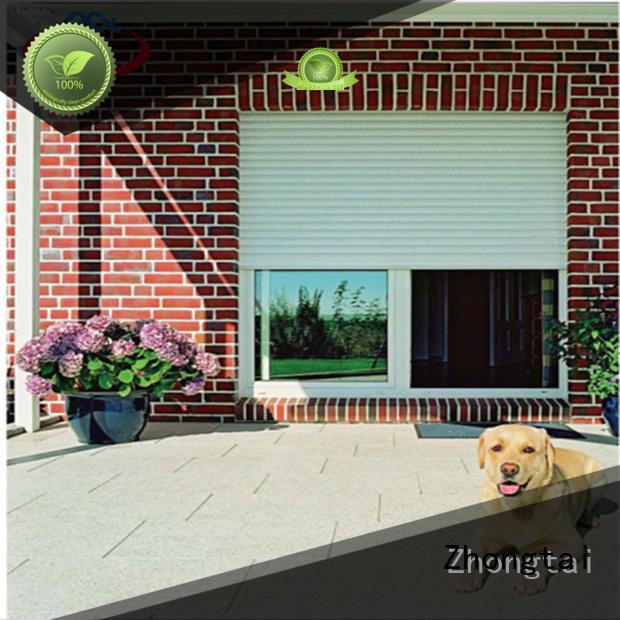 Zhongtai slat door insulation wholesale for supermarket