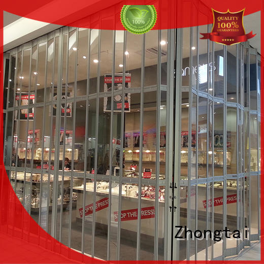 Zhongtai Custom folding door suppliers for shopping mall