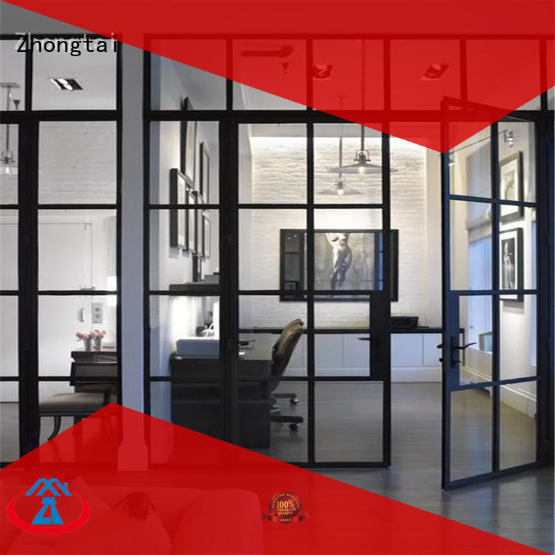 New aluminium sliding doors swing factory for office