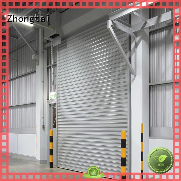 Custom industrial door company ppgi factory for workshop