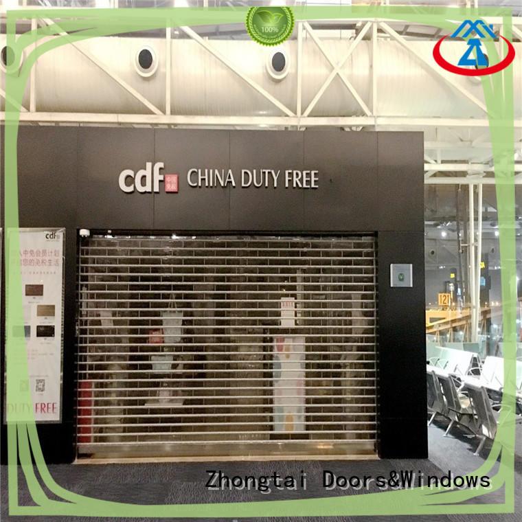 Zhongtai beautiful shop roller doors company for clothing store