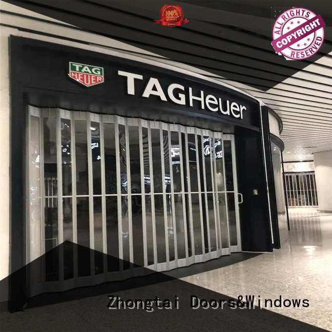 Zhongtai excellent shop shutter factory for shop