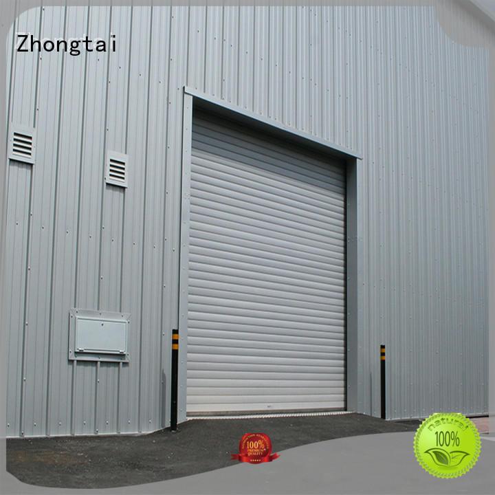 Zhongtai typhoon impact doors for business for warehouse