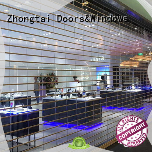 Zhongtai easy shop roller doors manufacturers for clothing store