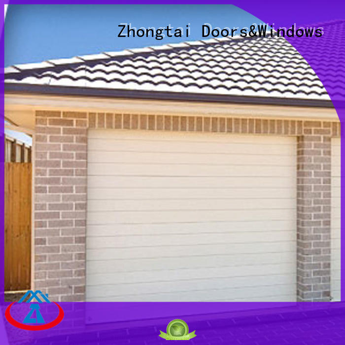 Zhongtai double aluminium shutters factory for garage