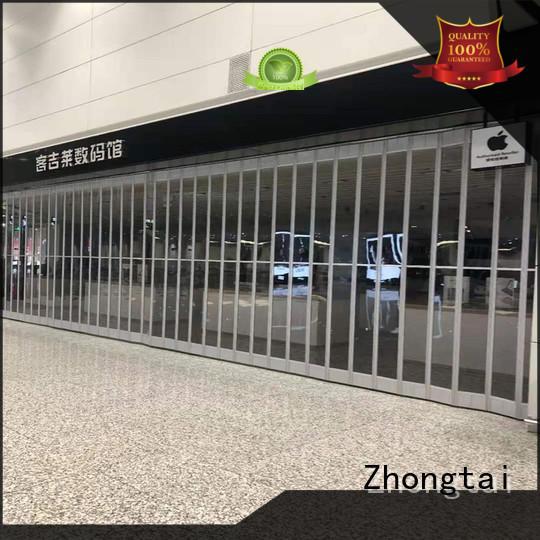 Zhongtai horizontal folding door manufacturers for supermarket