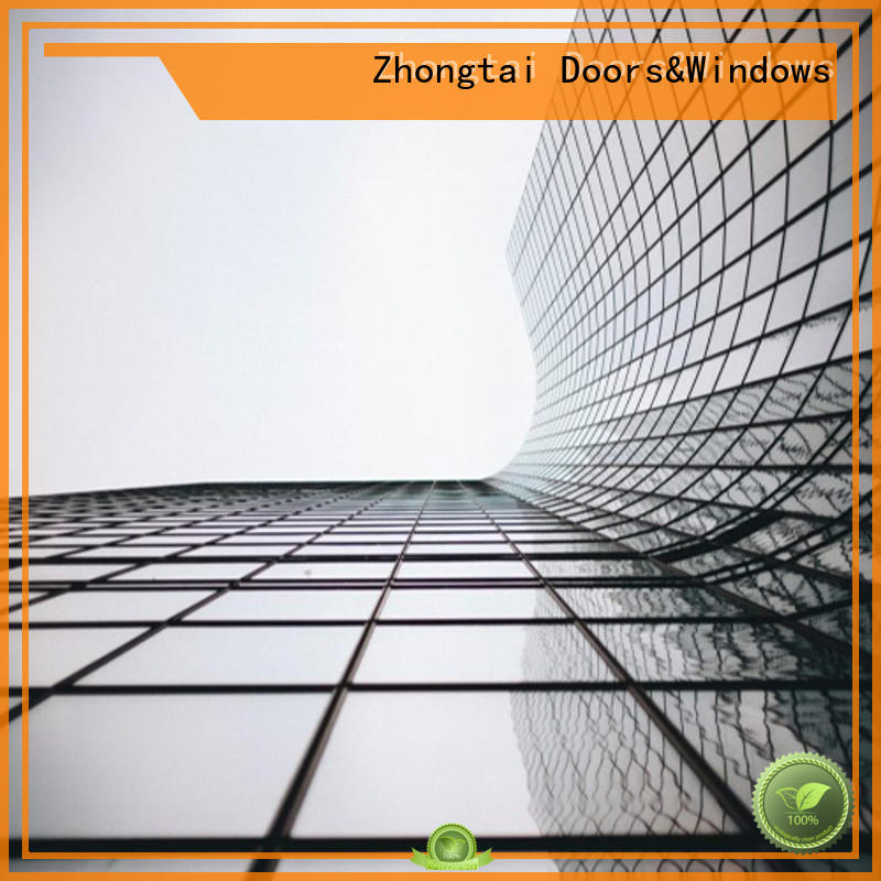 Zhongtai performance glass curtain wall supply for villa
