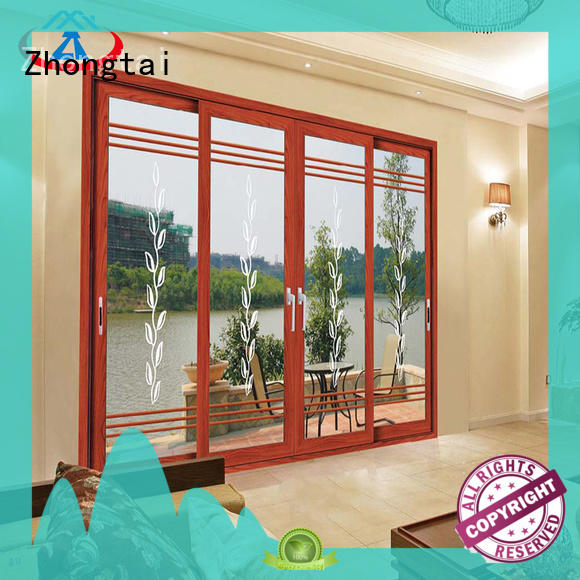 Zhongtai high quality aluminium sliding doors for sale for building