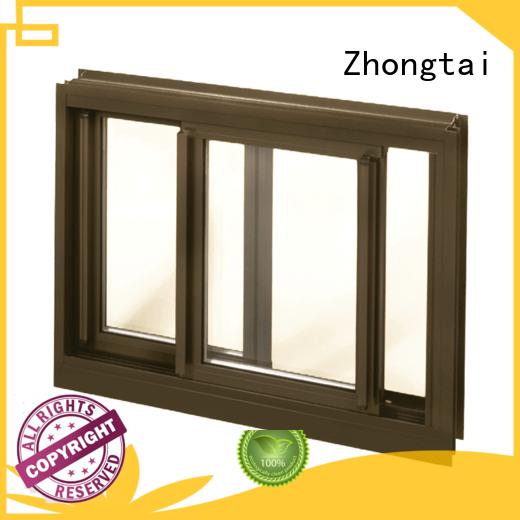 Zhongtai casement aluminium sliding window for sale for home
