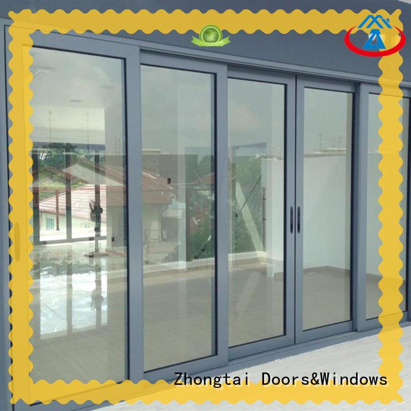 Zhongtai high quality aluminium sliding door company for company