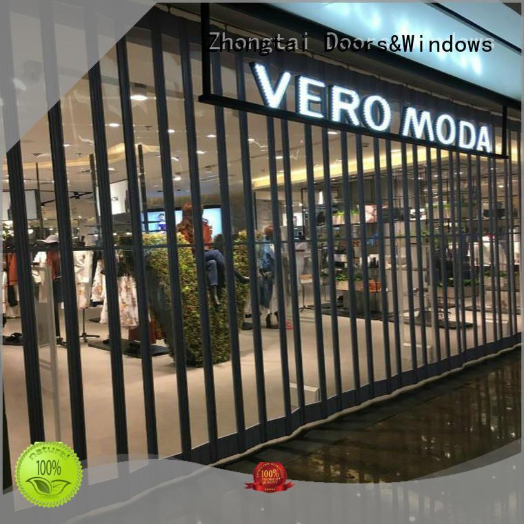 Zhongtai commercial shop shutter manufacturers for shop