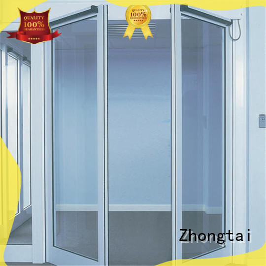 Zhongtai Latest aluminium french doors factory for cafe shop