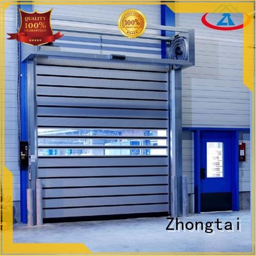 Zhongtai automatic high speed shutter door factory for workshop