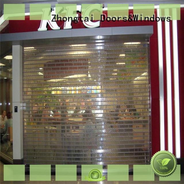 Zhongtai Top shop roller doors company for supermarket