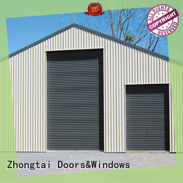 Zhongtai stainless commercial steel doors for sale for warehouse