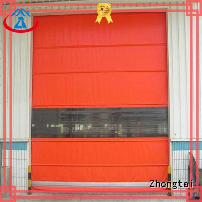 Zhongtai freezing high speed shutter door factory for warehouse