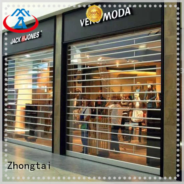 Zhongtai Best shop shutter prices company for window display