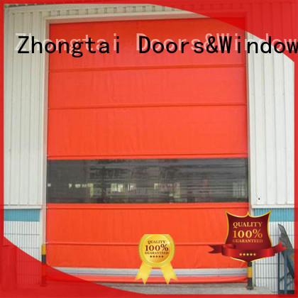 Zhongtai beautiful high speed doors supplier for factory