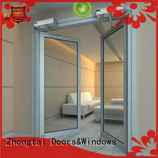 Zhongtai glass aluminium french doors for sale for office building