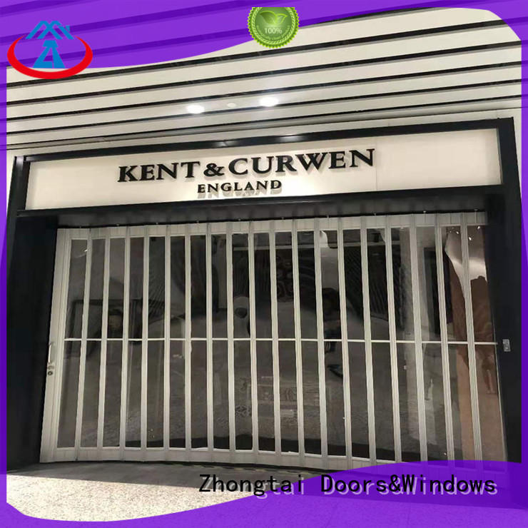 Zhongtai display commercial shutters company for supermarket