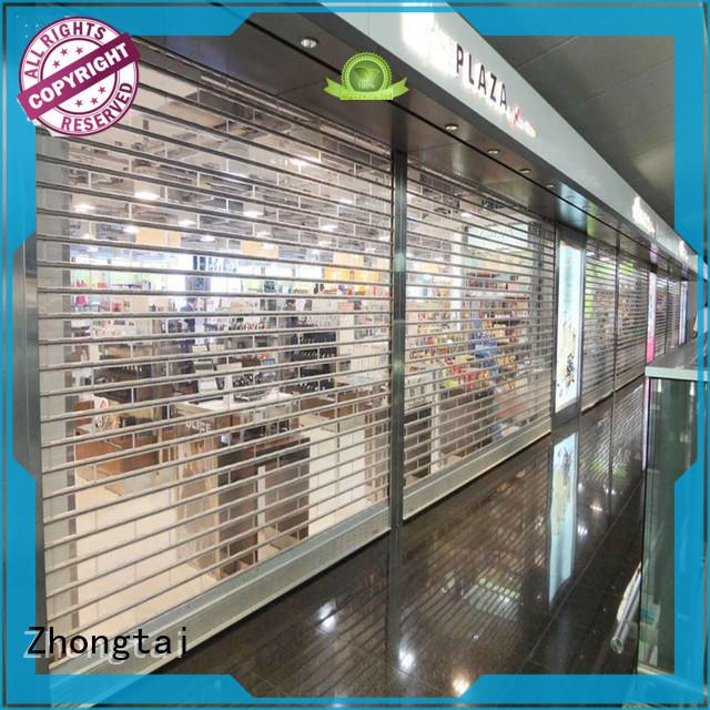 Zhongtai professional shop roller doors supply for shop