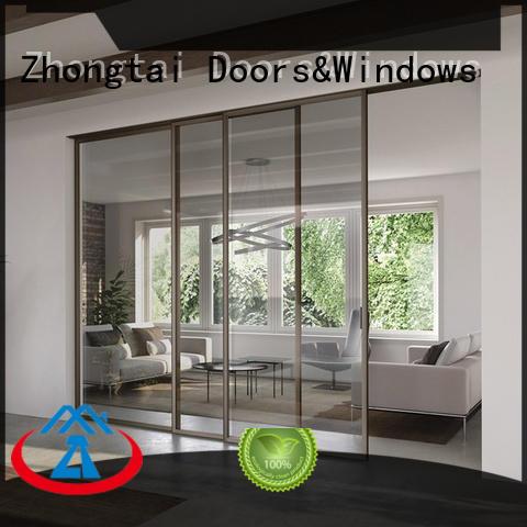 Zhongtai aluminium aluminium sliding door factory for company